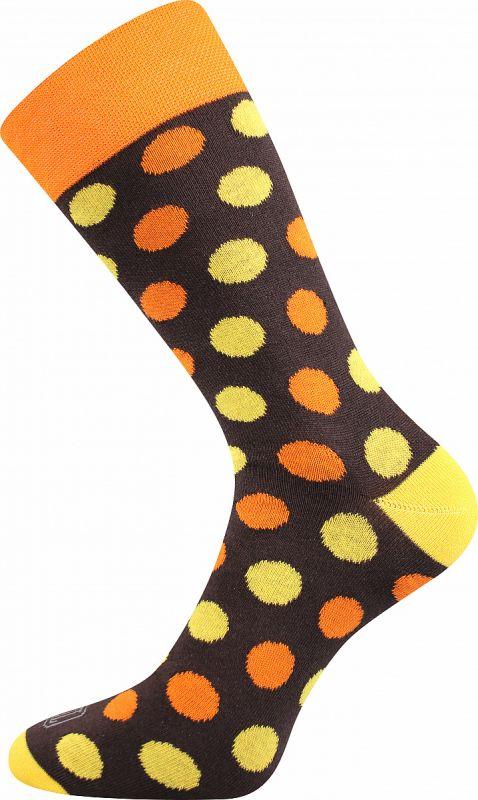 Veselé ponožky PUNTÍKY žluté Lonka