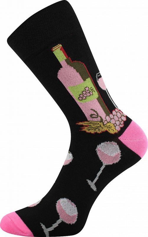 Veselé ponožky VÍNOXX růžová pata Lonka