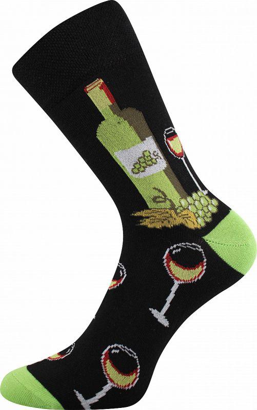 Veselé ponožky VÍNOXX zelená pata Lonka