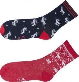 Veselé vánoční ponožky dámské sada 3 páry