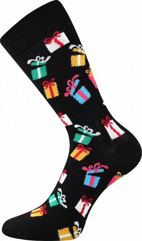 Veselé vánoční ponožky DÁREK 2 Lonka