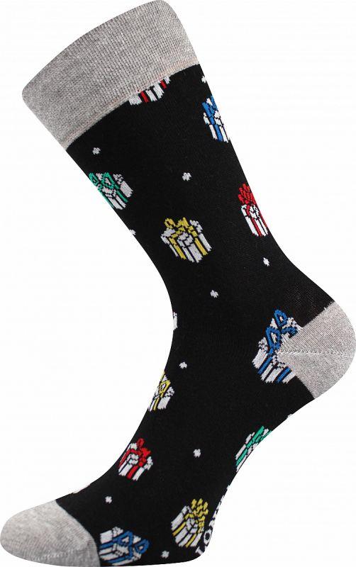 Veselé vánoční ponožky DÁREK Lonka