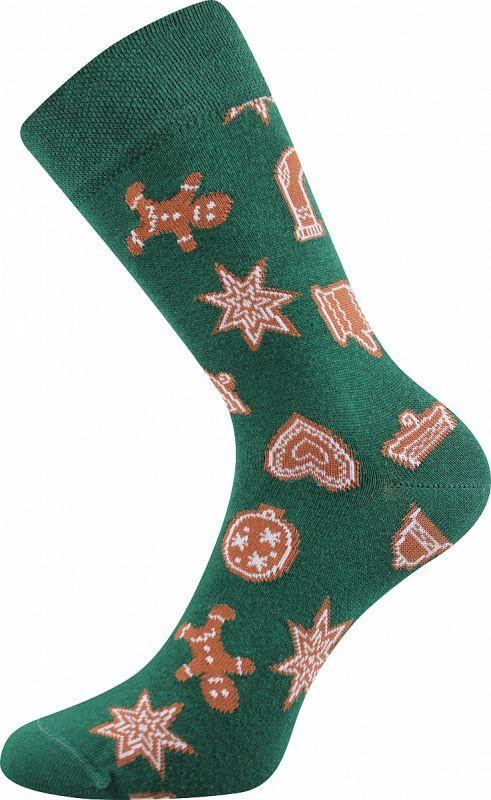 Veselé vánoční ponožky PERNÍČCI Lonka