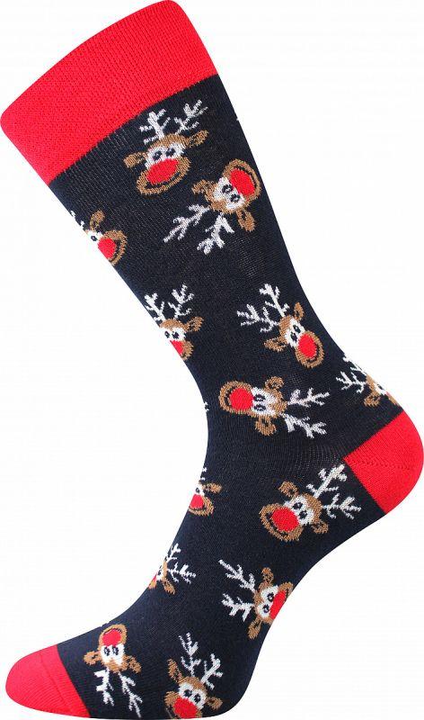 Veselé vánoční ponožky SOBÍCI 2 Lonka