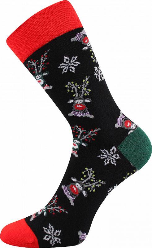 Veselé vánoční ponožky SOBÍCI Lonka