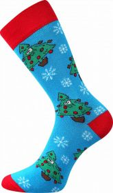 Veselé vánoční ponožky STROMEČEK Lonka