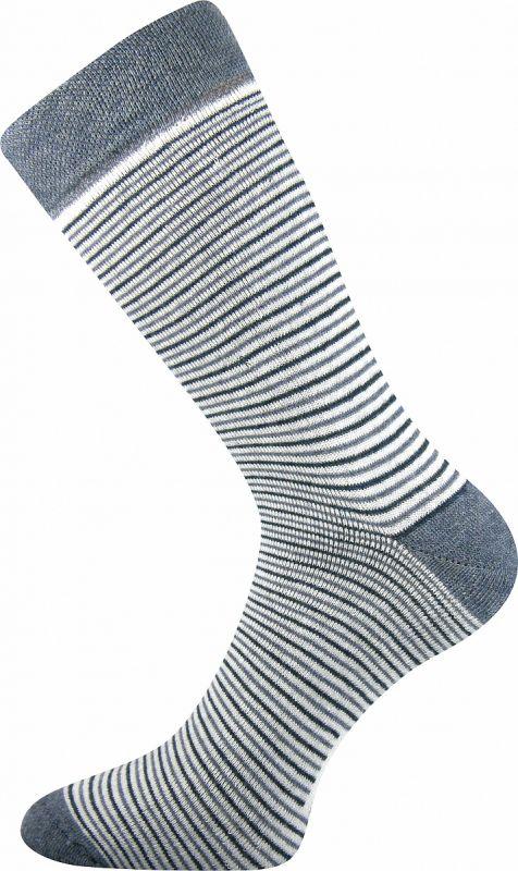 Dámské-dívčí froté ponožky Pruhana - šedý proužek Boma