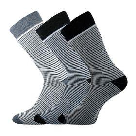 Dámské-dívčí froté ponožky Pruhana - 3 páry