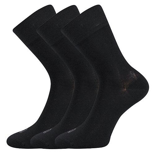 Dámské-pánské bambusové klasické ponožky Deli Boma černé - 3 páry LONKA