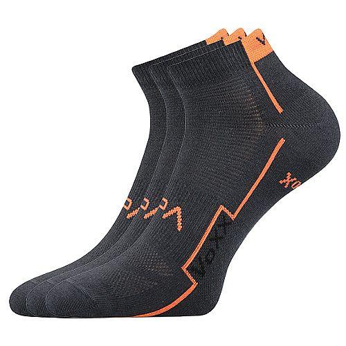 Dámské-pánské sportovní ponožky Kato Boma šedé - 3 páry Voxx