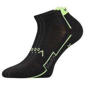 Dámské-pánské sportovní ponožky Kato Boma černé - 3 páry