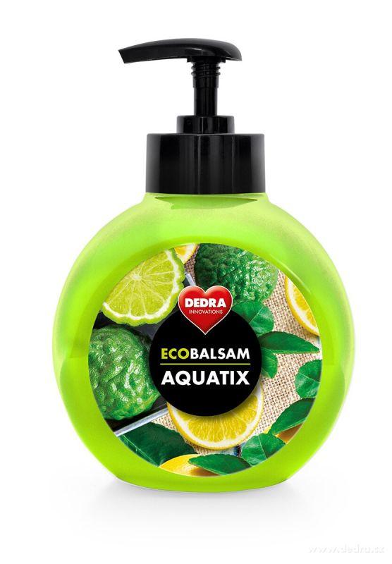 ECOBALSAM AQUATIX koncentrát na ruční mytí nádobí - bergamot&lemon 500ml s pumpičkou Dedra