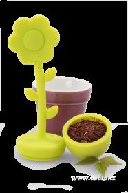 Sítko na sypané čaje Kytička - zelená Dedra