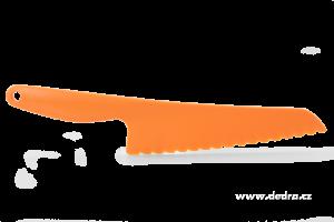 Velký plastový nůž na saláty - oranžový