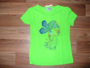 Dívčí tričko s holčičkou, vel. 122/128