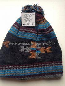 Chlapecká zimní čepice Wolf, vel.8-9let