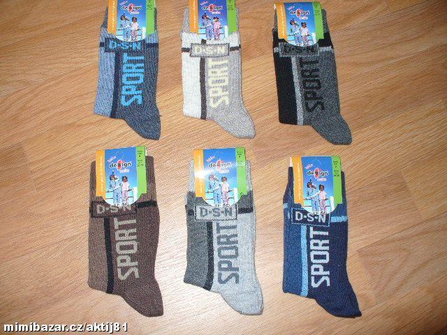 Dětské klasické ponožky - sport, vel. 26-28 Design socks