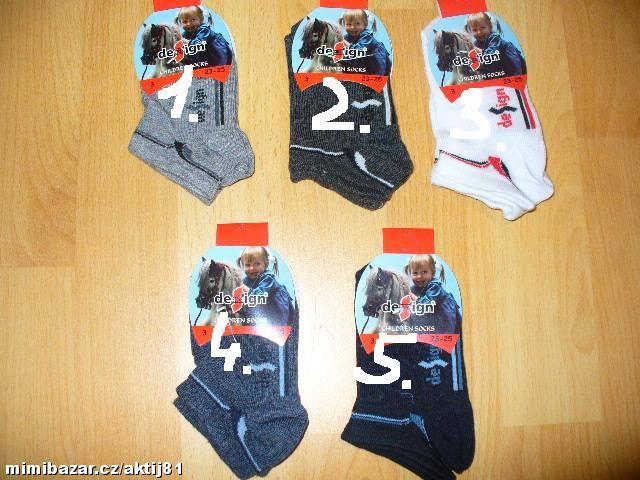 Dětské kotníčkové ponožky - design, vel. 23-25 Design socks