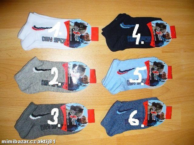 Dětské kotníčkové ponožky - sport, vel. 26-28 Design socks