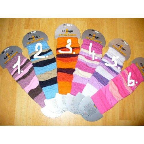 Dětské návleky pruhované Design socks
