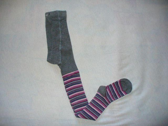 Punčocháče dětské - PROUŽEK, vel. 116-122 Design socks