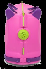 Veselý auto-kufr pro děti - fuchsiový Dedra