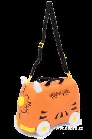 Veselý auto-kufr pro děti - oranžový