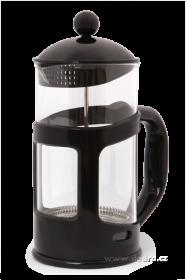 Konvice na kávu se sítkem-FRENCH PRESS - černá