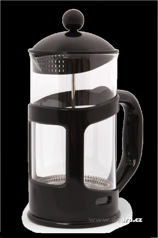 Konvice na kávu se sítkem-FRENCH PRESS - černá Dedra