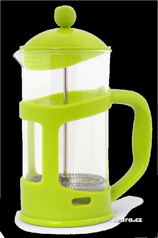 Konvice na kávu se sítkem-FRENCH PRESS - zelená Dedra