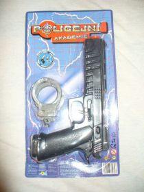 Pistole 22cm na setrvačník + pouta