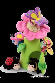 Plyšový domeček - Květinka s motýlky