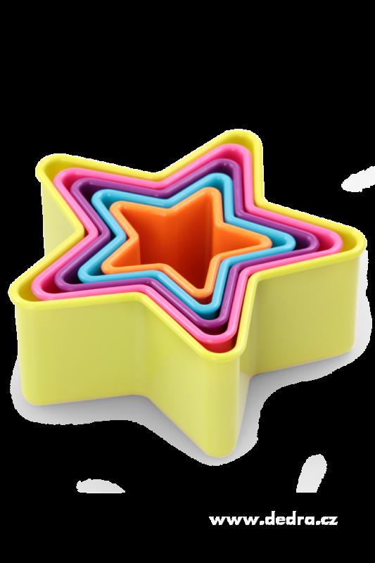 Vykrajovátka Hvězdičky (5ks) v dóze Dedra