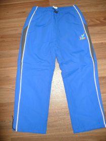 Zateplené šusťákové kalhoty, vel. 122