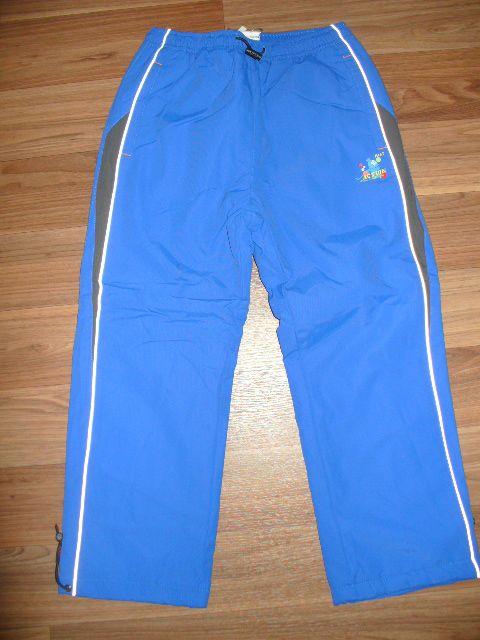Zateplené šusťákové kalhoty, vel. 122 Kugo