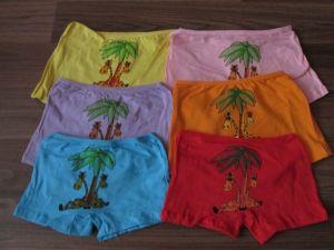 Dívčí spodní kalhotky s nohavičkou,žirafa II., vel. 6-8let Elevek
