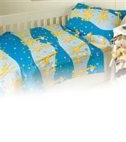 Povlečení krep dětské Dadka Vracov - Žirafa modrá 140x200  90x70