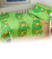Povlečení krep dětské Dadka Vracov - Žirafa zelená 140x200 90x70