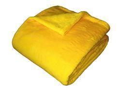 Super soft deka Dadka - tmavě žlutá, 150/200cm