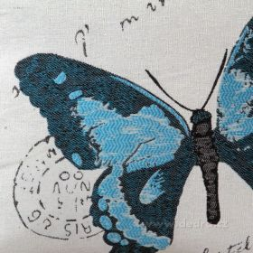 Potah na polštář GOBELINE modrý 45 x 45 cm Dedra