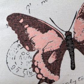 Potah na polštář GOBELINE růžový 45 x 45 cm Dedra