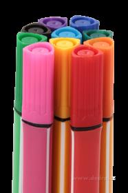 Tlusté trojhranné fixy, 10 barev Dedra