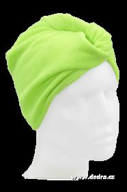Turban na vysoušení vlasů - jasně zelený