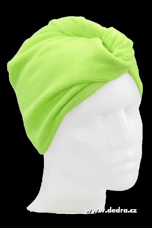Turban na vysoušení vlasů - jasně zelený Dedra