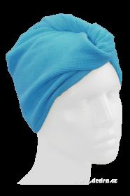 Turban na vysoušení vlasů - tyrkysový