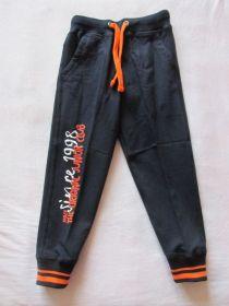 Chlapecké tepláky Wolf oranž.potisk, vel. 104-128 černé