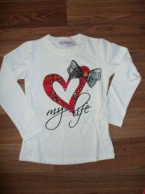 Dívčí triko srdce vel. 98-116