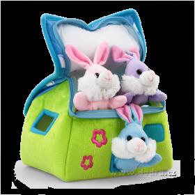 Plyšový domeček pro 3 králíčky Dedra