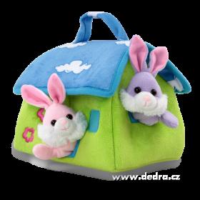 Plyšový domeček pro 3 králíčky